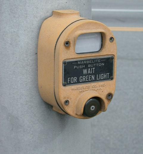 Marbelite pedestrian button