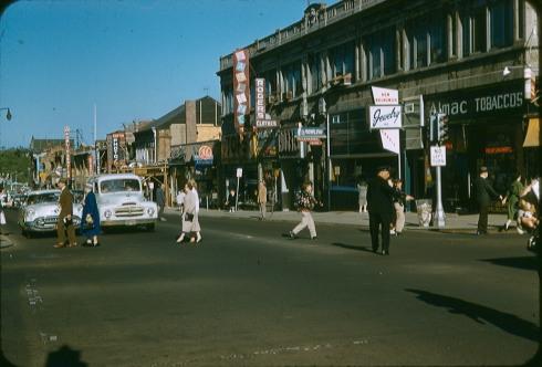 George & Albany Streets, ca 1958